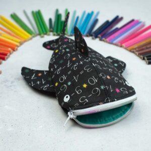 Stiftemäppchen Walhai für Vorschulkinder, zur Einschulung mit Buntstiftdeko